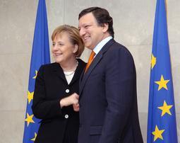 Федеральный канцлер Ангела Меркель и председатель Еврокомиссии Баррозу